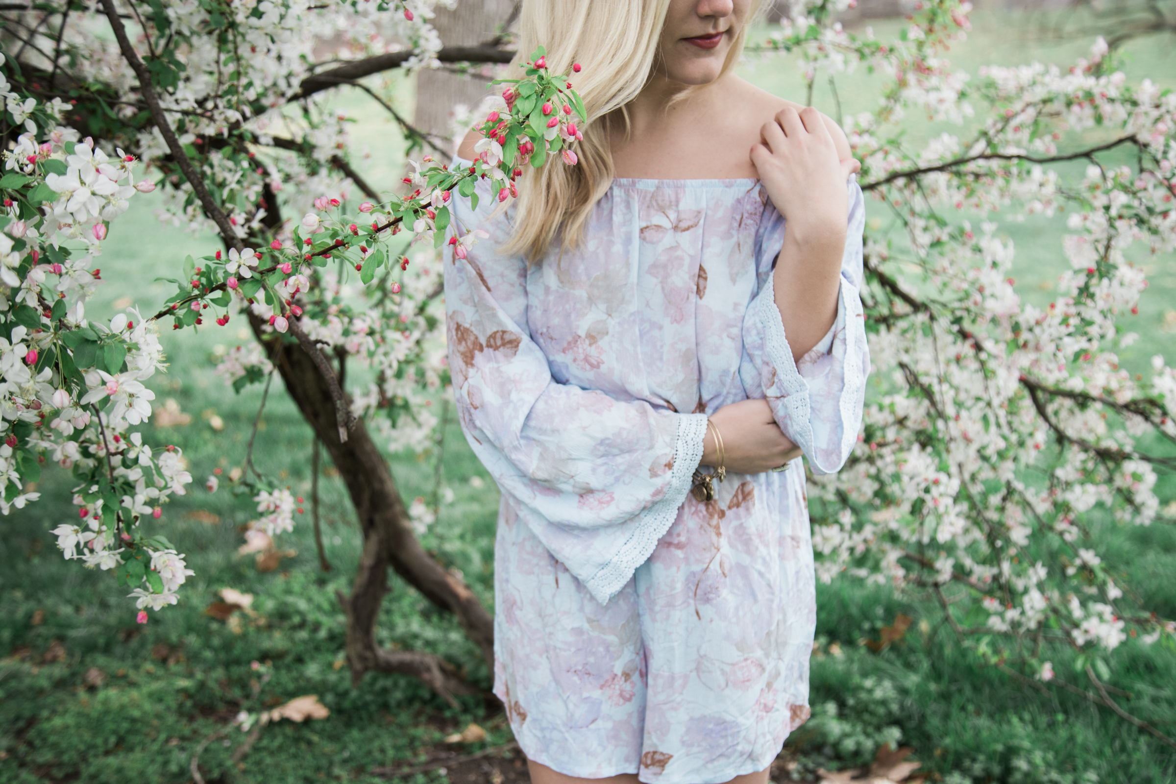 Off The shoulders floral romper (13 of 13)